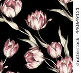 Seamless Pattern With Tulips....