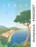 vector retro poster. italian... | Shutterstock .eps vector #440652007