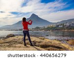 a female tourist captures the...   Shutterstock . vector #440656279