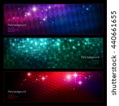 set of backgrounds for night... | Shutterstock .eps vector #440661655