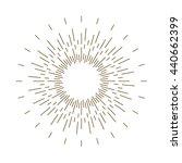 vintage sunburst | Shutterstock .eps vector #440662399