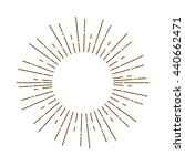 vintage sunburst | Shutterstock .eps vector #440662471