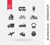 transportation icons set. signs ... | Shutterstock .eps vector #440663419