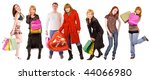 isolated shopping group   44 | Shutterstock . vector #44066980