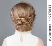 female back. bridal or prom... | Shutterstock . vector #440670595
