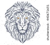 hand drawn lion head... | Shutterstock .eps vector #440671651