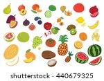 fruits graphic vector color set | Shutterstock .eps vector #440679325
