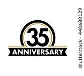 anniversary vector unusual... | Shutterstock .eps vector #440680129