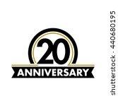 anniversary vector unusual... | Shutterstock .eps vector #440680195