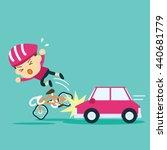 car accident crash cyclist ride ...   Shutterstock .eps vector #440681779