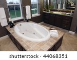 luxurious bathroom with a... | Shutterstock . vector #44068351