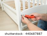 closeup photo of handyman... | Shutterstock . vector #440687887