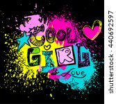 cool girl to print t shirts.... | Shutterstock .eps vector #440692597