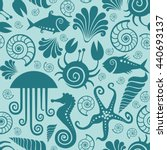 vector seamless pattern with...   Shutterstock .eps vector #440693137