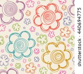 vector seamless pattern with... | Shutterstock .eps vector #440694775