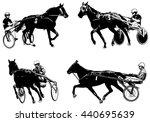 trotters race sketch... | Shutterstock .eps vector #440695639