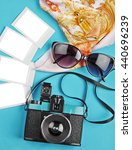 the camera and slides on the... | Shutterstock . vector #440696239