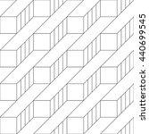 monochrome geometric thin line...   Shutterstock .eps vector #440699545
