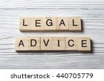 legal advice word written on... | Shutterstock . vector #440705779