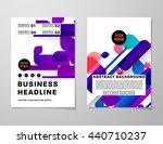 geometric cover background ... | Shutterstock .eps vector #440710237