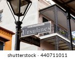 street signs and architecture... | Shutterstock . vector #440711011