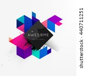 geometric vector background.... | Shutterstock .eps vector #440711251
