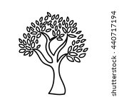 olive tree isolated icon design | Shutterstock .eps vector #440717194
