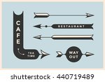 set of vintage arrows and... | Shutterstock .eps vector #440719489