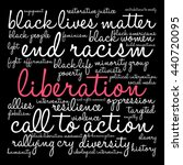 liberation word cloud on a... | Shutterstock .eps vector #440720095