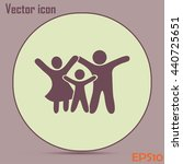 happy family icon in simple... | Shutterstock .eps vector #440725651
