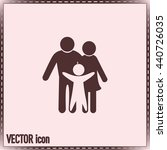 happy family icon in simple... | Shutterstock .eps vector #440726035