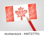 canada flag sketch style with... | Shutterstock .eps vector #440727751