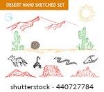 western desert doodle set.... | Shutterstock .eps vector #440727784