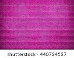Grunge Purple Brick Wall...