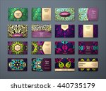 vector vintage business cards... | Shutterstock .eps vector #440735179