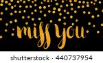 handwritten calligraphic gold... | Shutterstock . vector #440737954