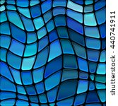 abstract vector stained glass... | Shutterstock .eps vector #440741911