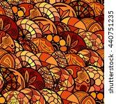 hand drawn vector ethnic... | Shutterstock .eps vector #440751235