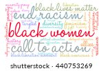 black women word cloud on a... | Shutterstock .eps vector #440753269