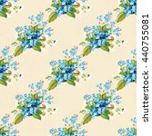 seamless floral pattern with... | Shutterstock .eps vector #440755081