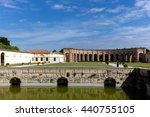 Small photo of MANTUA, ITALY - APRIL 28 2016: Palazzo Te in Mantua is a major tourist attraction. It is a fine example of the mannerist style of architecture, the acknowledged masterpiece of Giulio Romano.