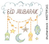 eid mubarak theme. beautiful... | Shutterstock .eps vector #440759161