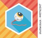 halloween eyeball flat icon...   Shutterstock .eps vector #440762347