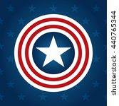 american flag style star vector ... | Shutterstock .eps vector #440765344