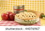 Home Made Apple Pie With Red...