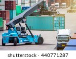 containers in the port at... | Shutterstock . vector #440771287