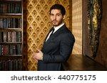 respectable young man standing... | Shutterstock . vector #440775175