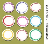 set of paper round shapes with... | Shutterstock .eps vector #440781445