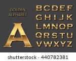 Vector Golden Alphabet.golden...