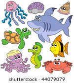 sea fishes and animals... | Shutterstock .eps vector #44079079